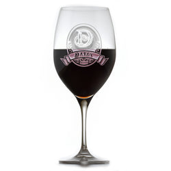 Personalized Crystal Red Wine Glass, Engraved