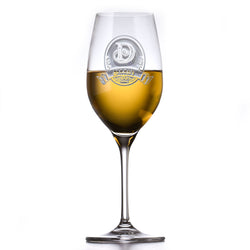 Personalized Crystal White Wine Glass, Engraved