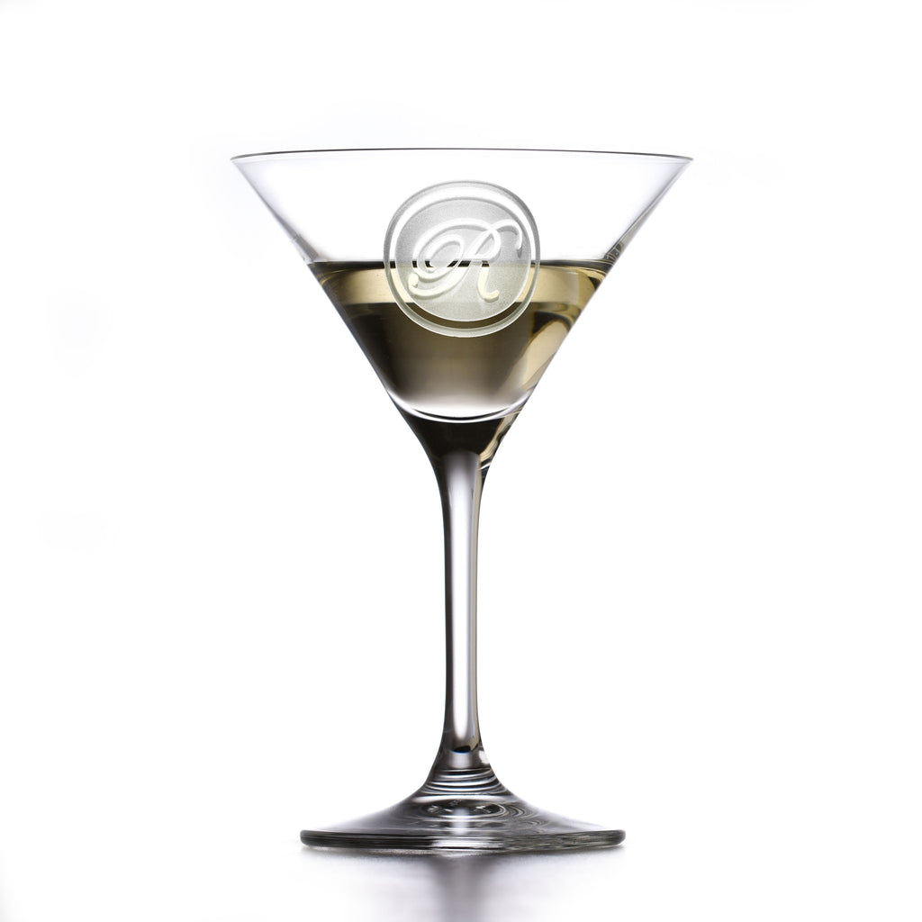 Engraved Crystal Martini Cosmo Glass