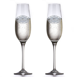 Personalized Crystal Mr. and Mrs. Toasting Flutes