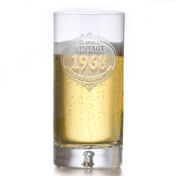 Engraved Crystal Highball Birthday Glass Gift