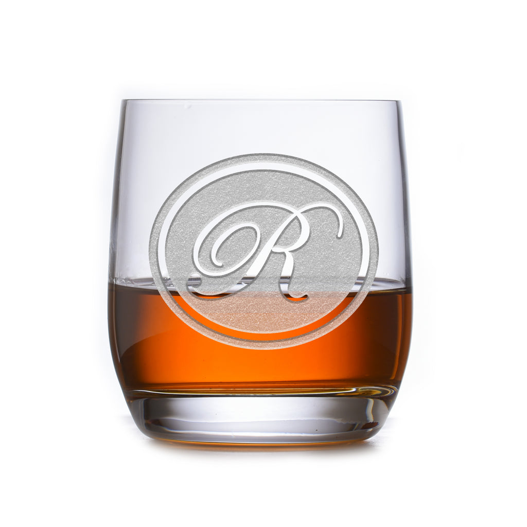 Personalized Stolzle Weinland Crystal Rocks Whiskey Glass