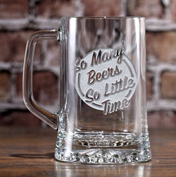 So Many Beers So Little Time Beer Mug