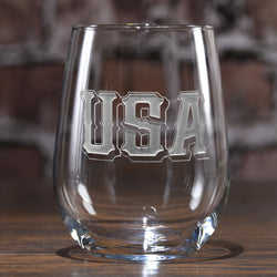 USA Pride Stemless Wine Glass