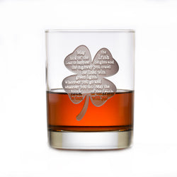 Luck of the Irish Whisky Glass, St. Patrick's Day Rocks Glass Gift