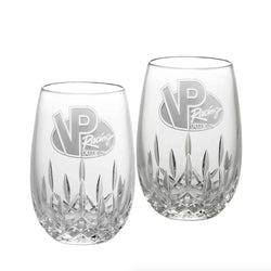 Logo Stemless Wine Glass, Pair