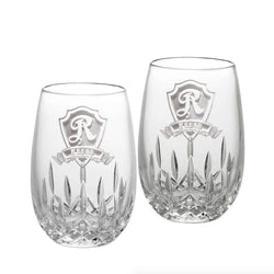 Waterford Crystal Stemless Wine Glasses, PAIR