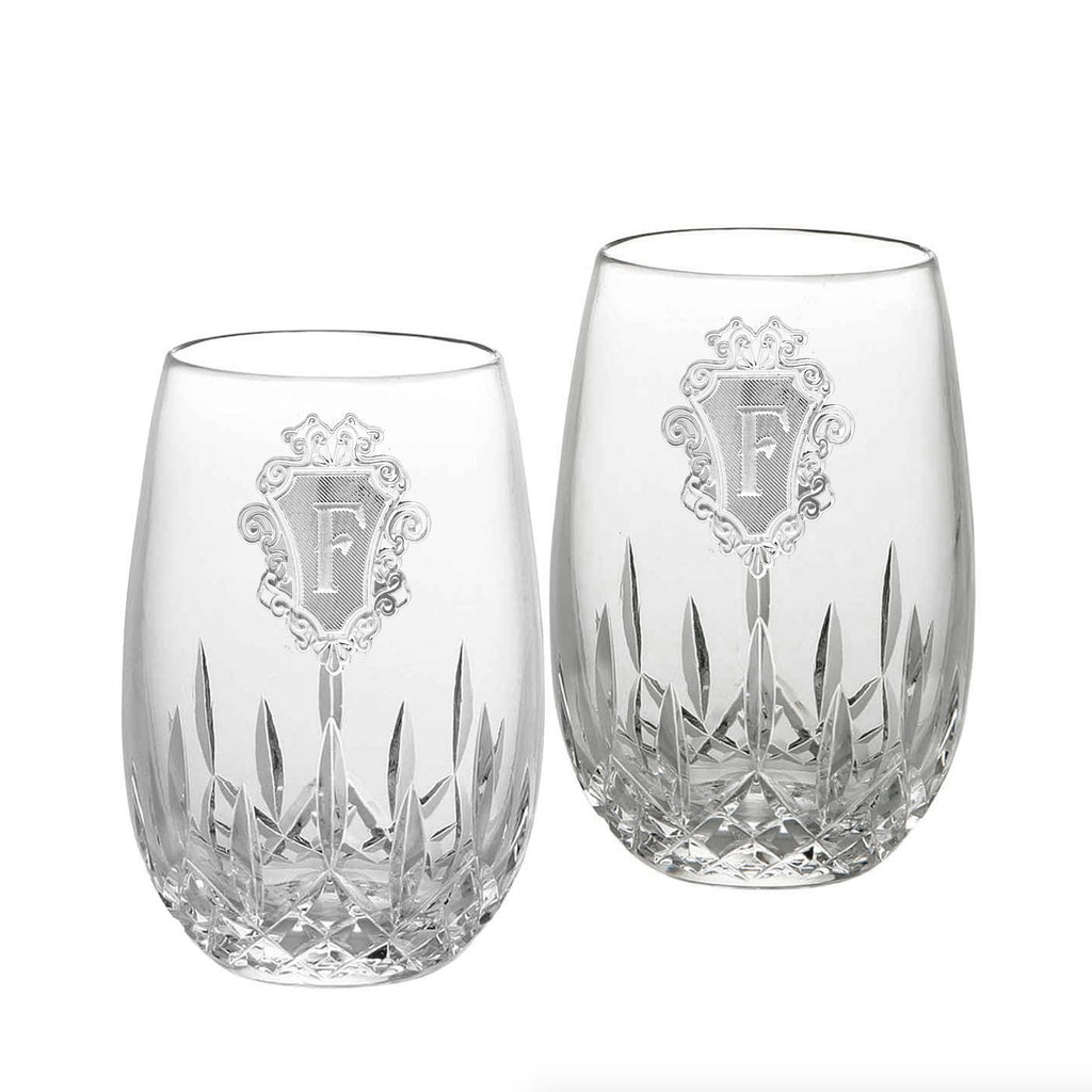 Waterford Lismore Nouveau Stemless, PAIR