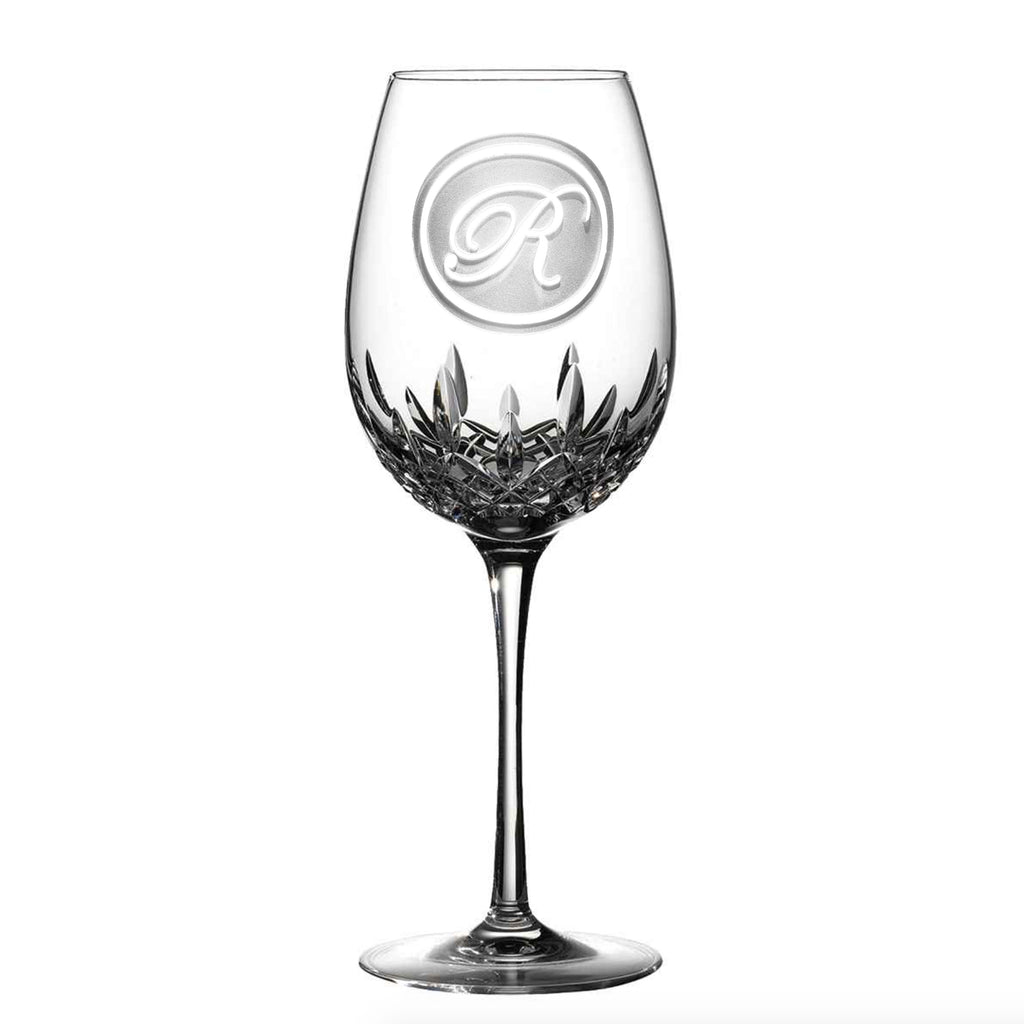 Engraved Monogram Waterford Wine Glass
