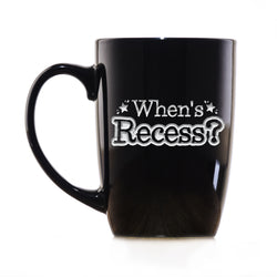 When's Recess? Funny Homeschooling Parent and Teacher Gift Coffee Mug