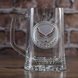 Engraved Air Force Beer Mug. Military Gifts