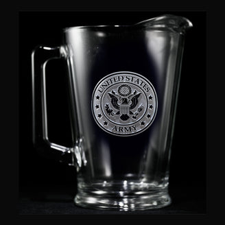 Engraved Army Military Pitcher