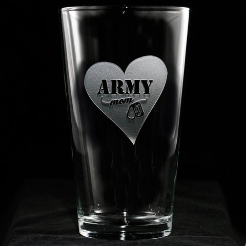 Army Mom Pint Pub Glass