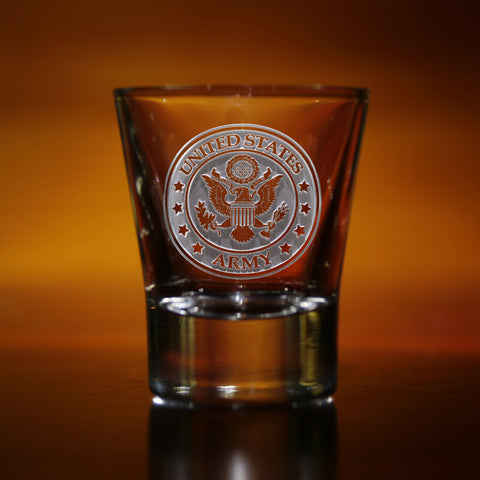 2.8oz. Engraved Army Shot Glass