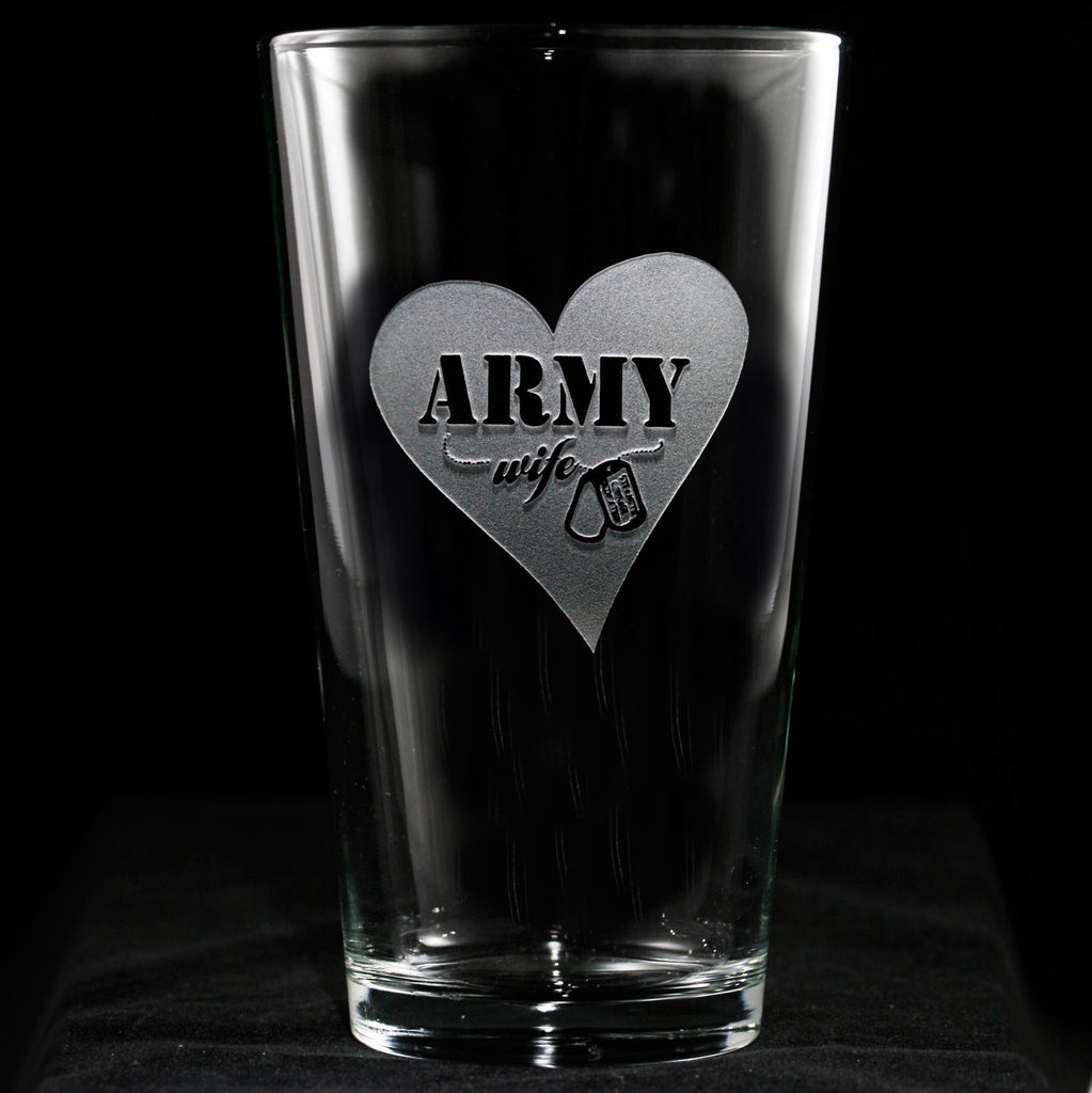 Army Wife Pint Pub Beer Glass