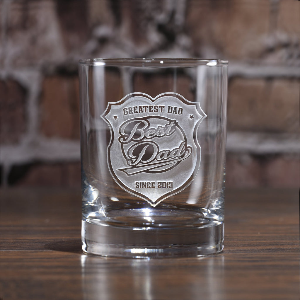World's Best Dad Whiskey. Scotch Glass