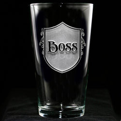 Boss Engraved Pub Pint Beer Glasses. Boss Gifts