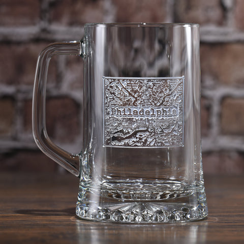 Street Maps Etched Beer Mug *NOTE: ONE CITY PER ORDER