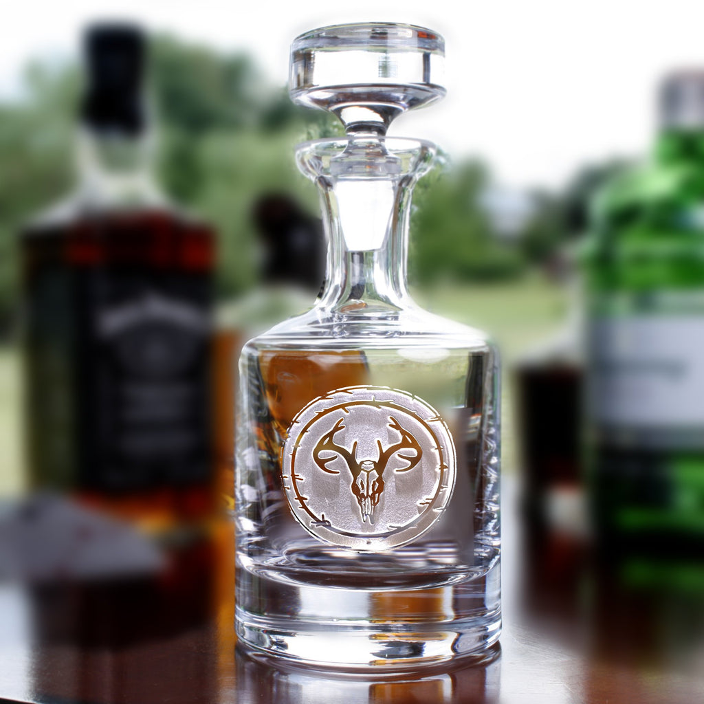 Deer Skull Antlers Whiskey Decanter