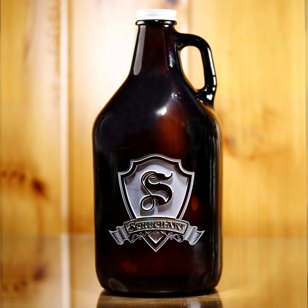 Custom Monogrammed Engraved Growler from Crystal Imagery