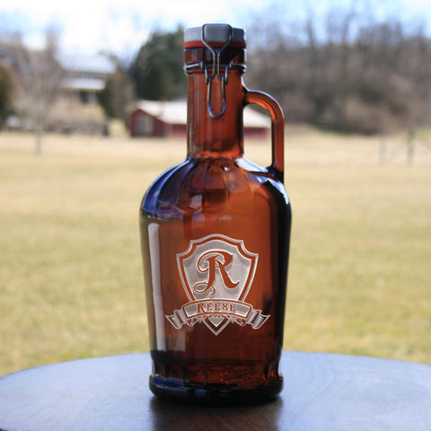 German Beer Growler. Engraved