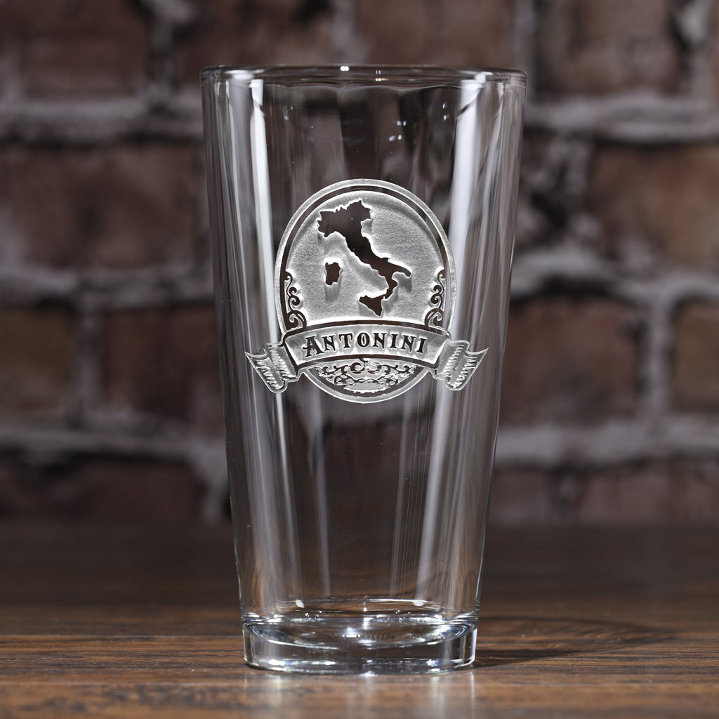 Engraved Italian Pub Pint Glass