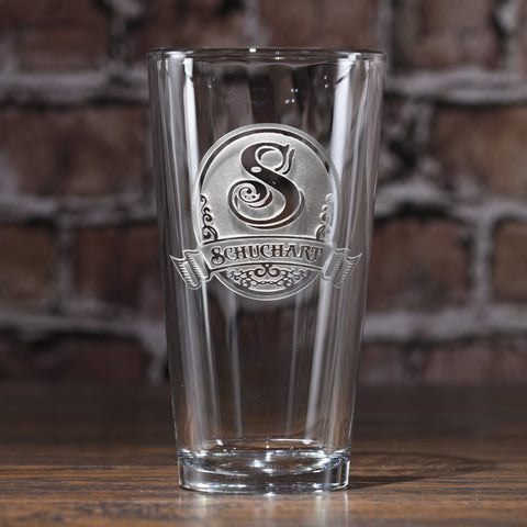 Custom Pub Pint Water Glasses