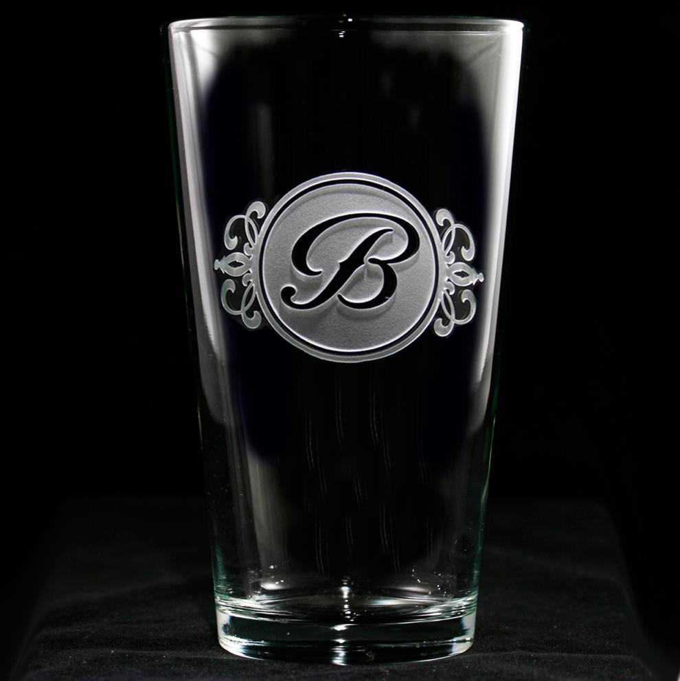 Personalized Pub Pint Water Glasses