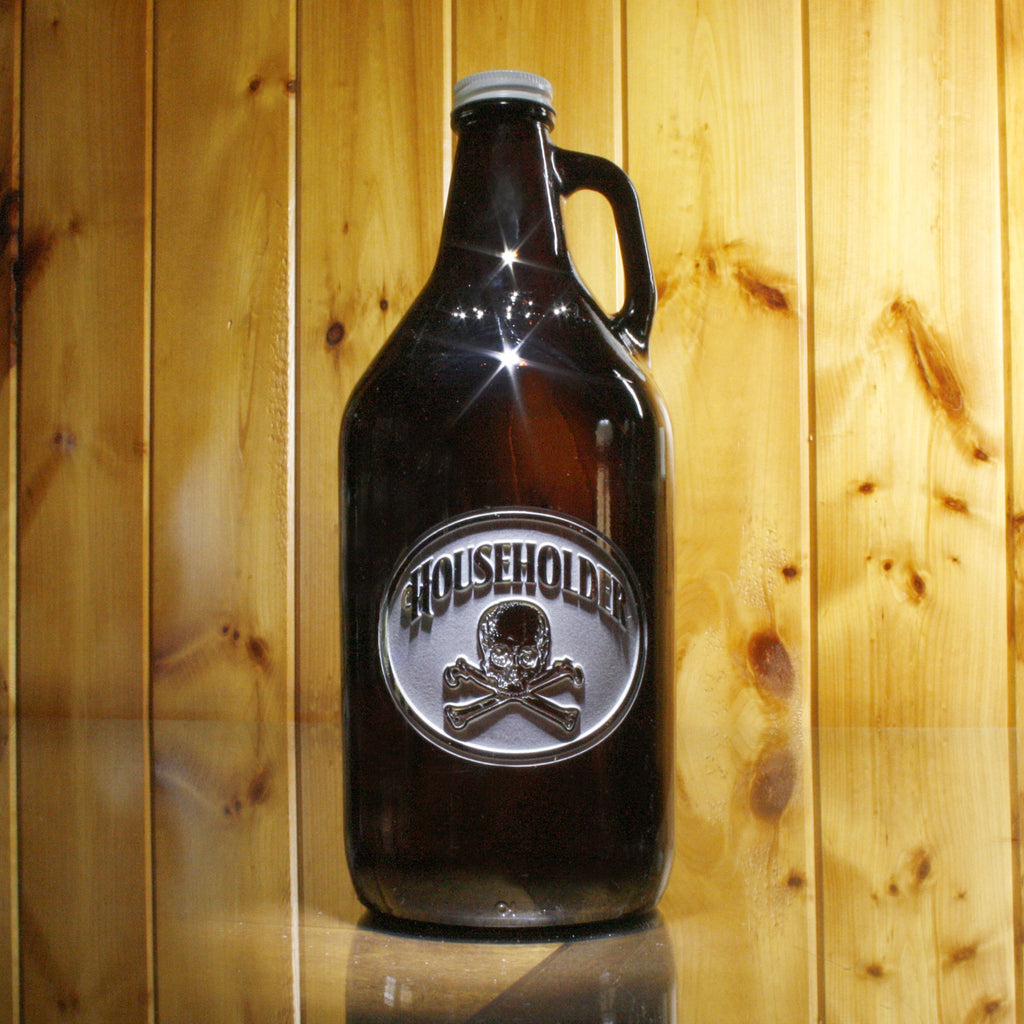 Beer Growler. Skull and Bones