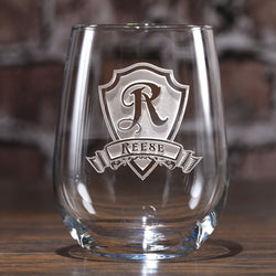 Engraved Personalized Stemless Wine Glass