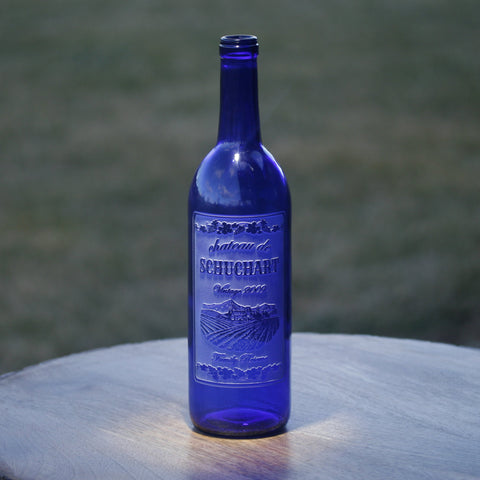 Engraved Wine Bottle. Personalized