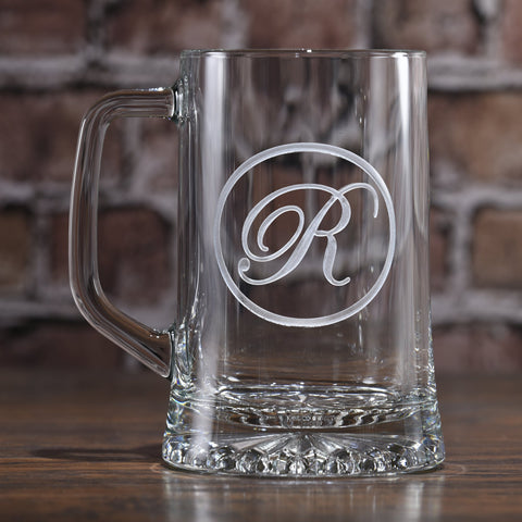 Beer Mug Engraved Monogram