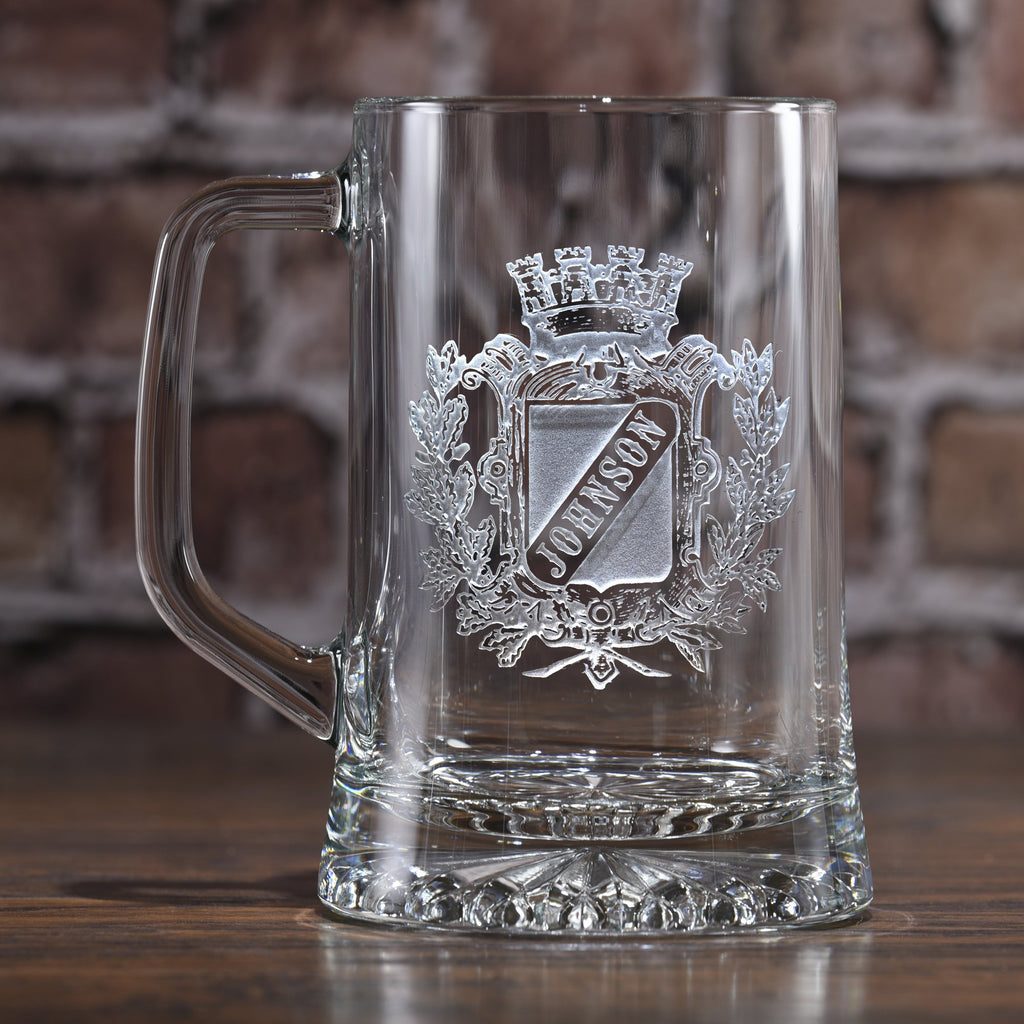 Family Crest Beer Mug. Coat of Arms Mug