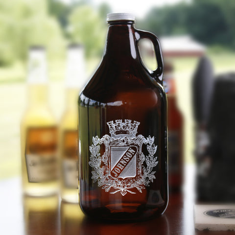 Coat of Arms Family Crest Beer Growler