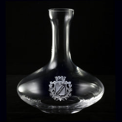Wine Decanter. Family Crest