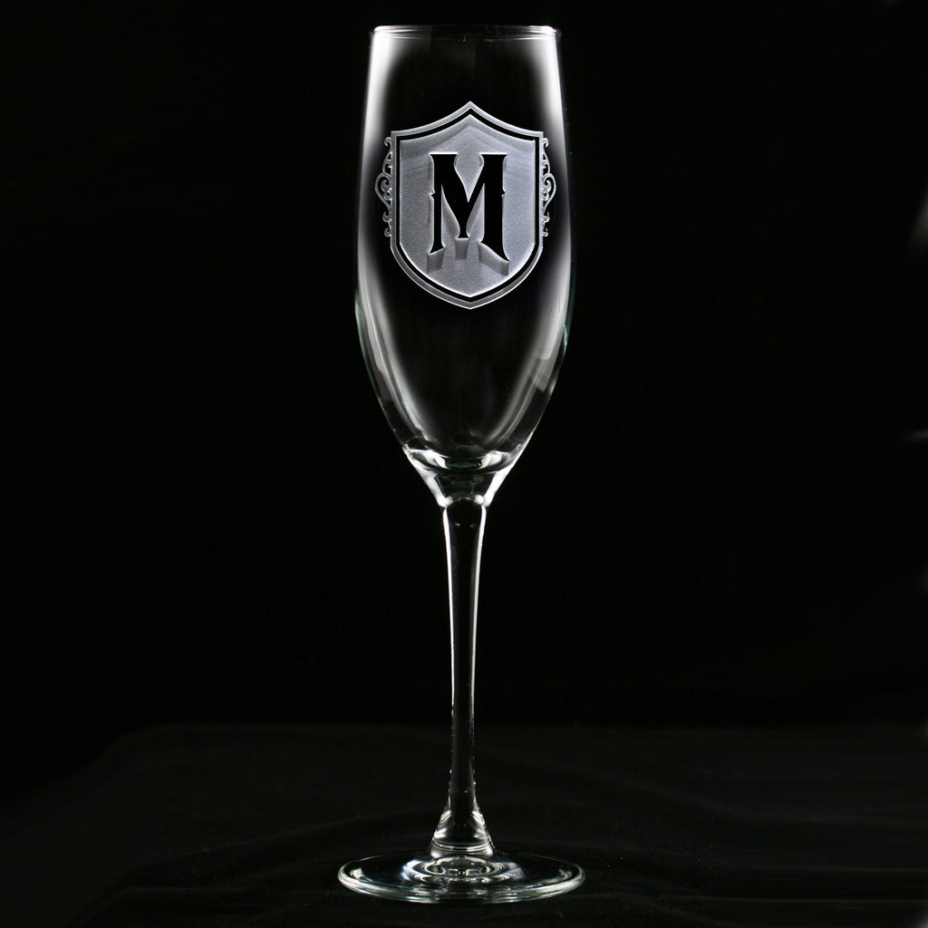 Custom Engraved Champagne Flute Wedding Gift Crystal Imagery