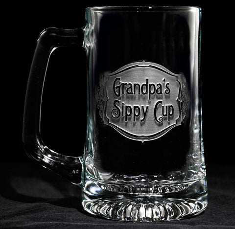Engraved Grandpa's Sippy Cup Beer Mug