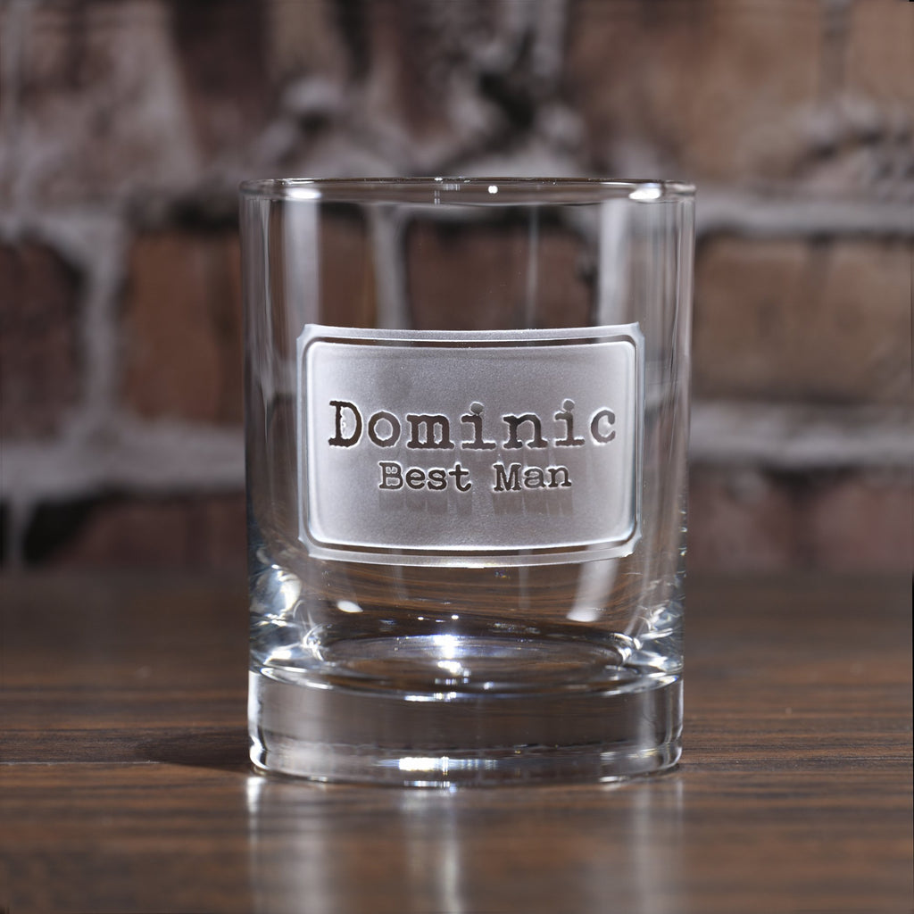 Best Man Gift Ideas. Engraved Groomsmen Whiskey Scotch Glasses