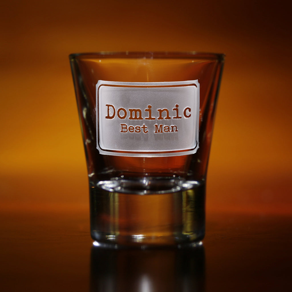 Best Man. Groomsmen Engraved Shot Glass Gifts