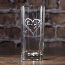 Heart Arrow Highball Cocktail Glass