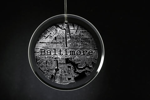 Hometown City Street Map Ornament *NOTE: ONE CITY PER ORDER