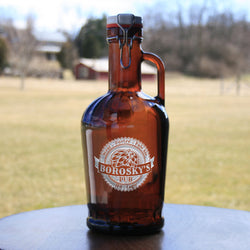 Engraved Flip Swing Top Growler