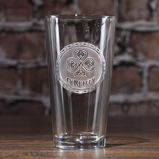 Irish Pub Glass. Celtic Pint Glass