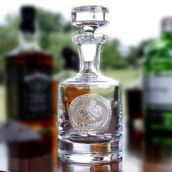 Irish Celtic Clover Whiskey Decanter