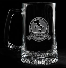 Engraved Italian Beer Mug