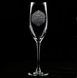 Customized Large Wreath Champagne Flute
