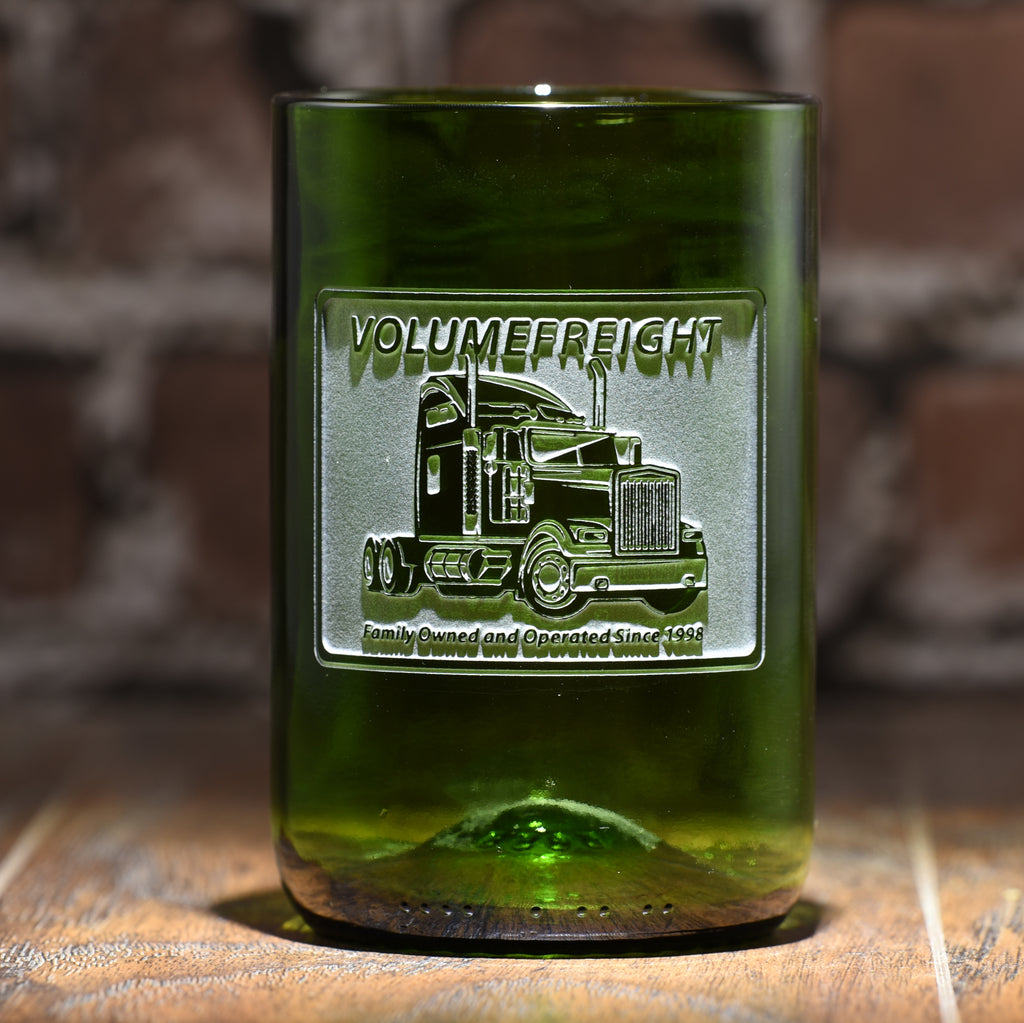 Green Recycled Wine Bottle Glass With Your Logo