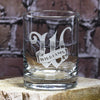 Personalized Letter with Banner Bourbon Glass