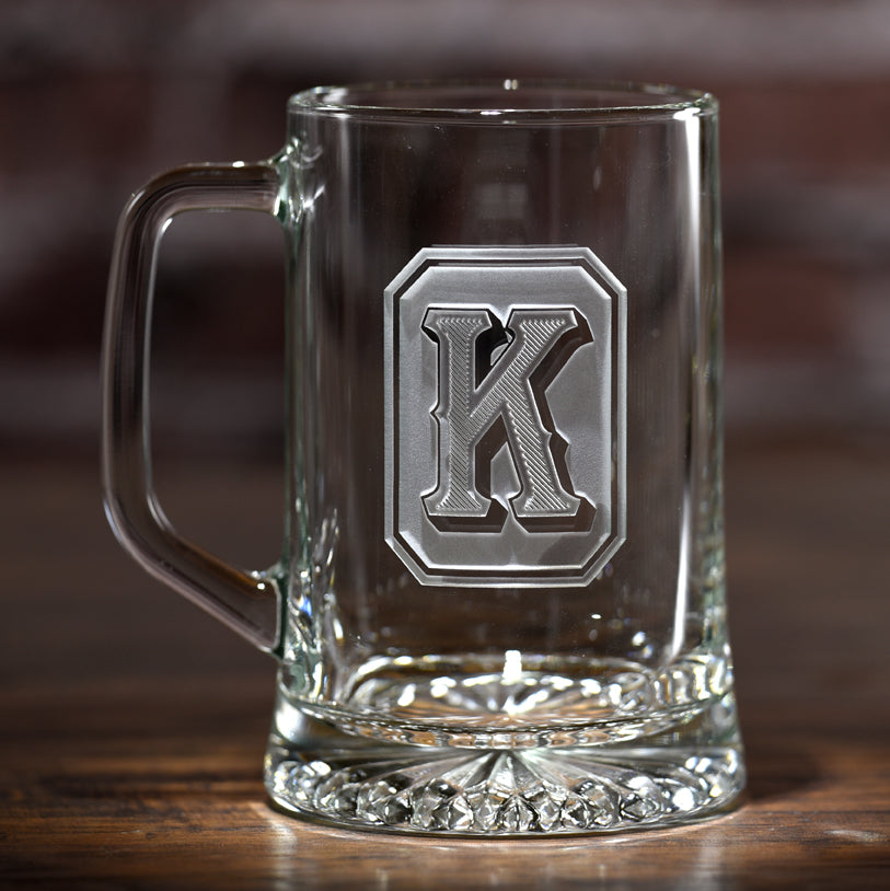 Monogram Full Emerald Design Beer Mug