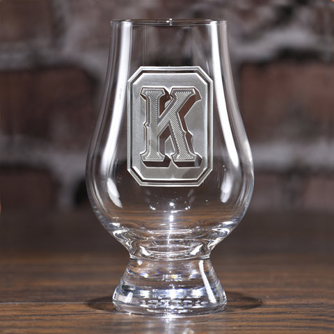 Monogram Full Emerald Design Glencairn